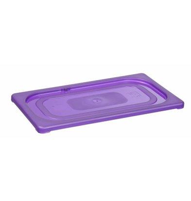 Hendi GN Deckel Violett | Geeignet für Hendi polypropylen GN Behälter | 1/4GN
