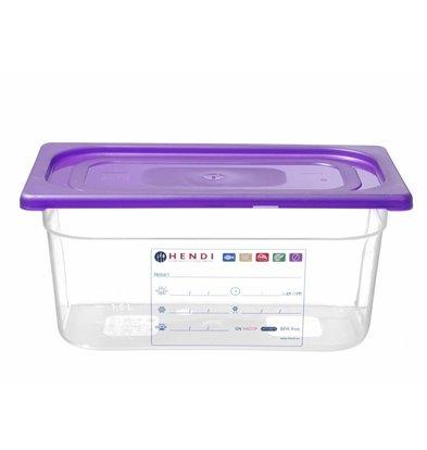 Hendi GN Deckel Violett | Geeignet für Hendi polypropylen GN Behälter | 1/3GN