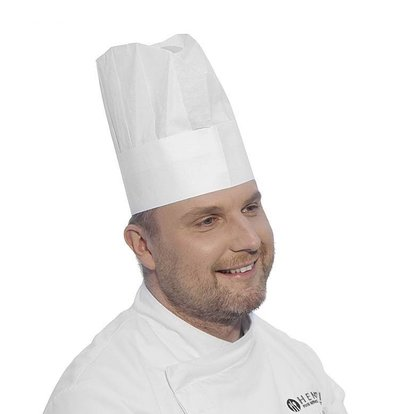 Hendi Kochmütze Hoch | Einstellbare Größe | 10 Stück