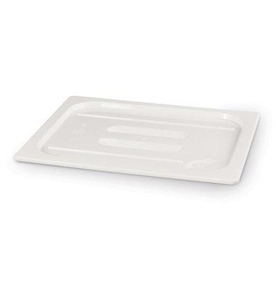 Hendi Polycarbonat Deckel Weiß | Ohne Löffelaussparung | GN 1/4