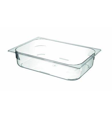 Hendi Eisbehälter Polycarbonat Transparent | 3360x250x(h)80mm
