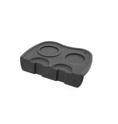 Hendi Silikon Tamper Matt | Ausschnitt für Portafilter | 150x100x(h)45mm