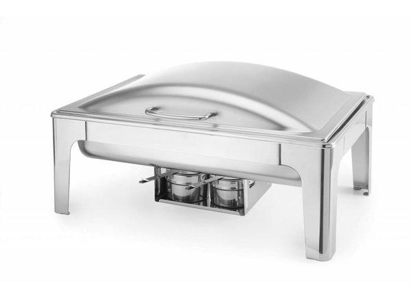 Hendi Chafing Dish 1/1 GN |  Edelstahl Matt | 9 Liter | 570x405x(h)290mm