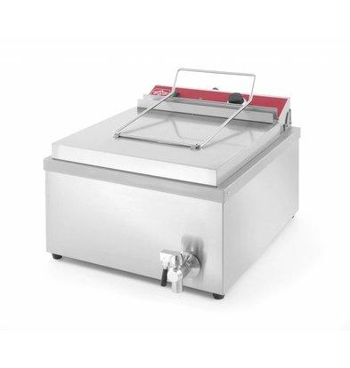 Hendi Donut Fritteuse 12 Liter | Ölbehälter geschweißt  400x400x(h)160mm | 630x860x(h)360mm