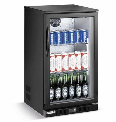 Hendi Barkühlschrank mit Glastür | 118 Liter | Gehärtetes Glas | 500x500x(h)900mm