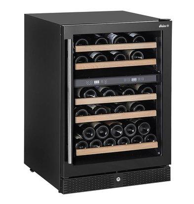 Hendi Weinkühlschrank mit 2 Temperaturzonen | 155 Liter | Max 44 Weinflaschen | 5 Holzablagen | 596x654x(h)855mm
