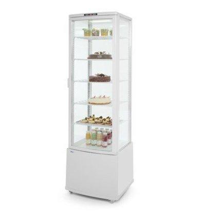Hendi Kühlvitrine Weiß |  5 Regalböden |  Doppelverglasung | Zwangskühlung | 556x526x(h)1913mm