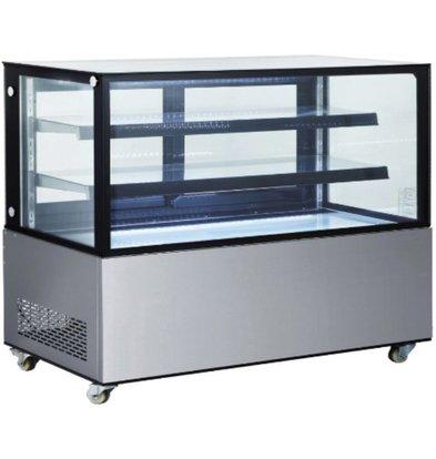 Hendi Mobile Kühlvitrine |  2 Glasregale | Schiebetüren Hinten | Erhältlich in 4 Größen