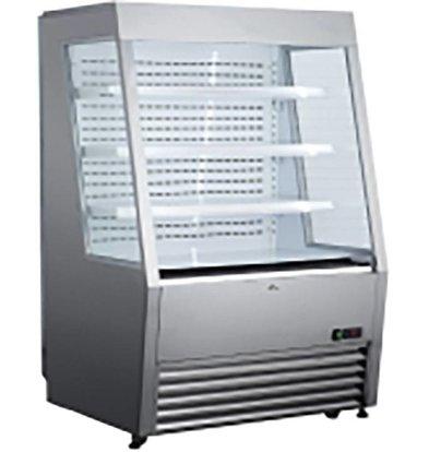 Hendi Wandkühlregal 320 Liter | LED Beleuchtung | Schwenkrollen | 920x847x(h)1465mm