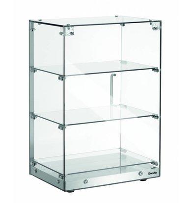 Bartscher Buffetvitrine aus Glas | 3 Etagen | Tür mit Arretierung | 405x335x(h)620mm