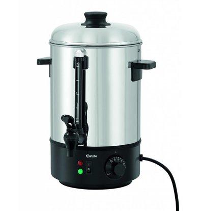 Bartscher Heißwasserspender Edelstahl | 6 Liter | 1,8 kW | 280x290x(h)385mm