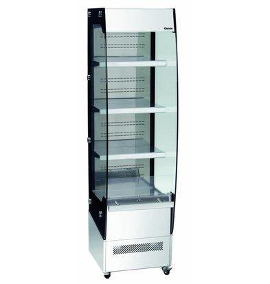 Bartscher Wandkühlung Rimi | Sicherheitsglas | 220 Liter |  3 Regalböden | 494x600x(h)1742mm