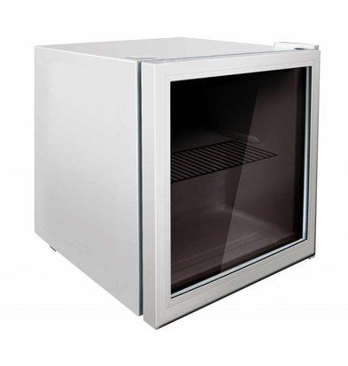 Exquisit Display Kühlschrank Weiß | Kompakt Modell | 50 Liter | 430x460x510(h)mm