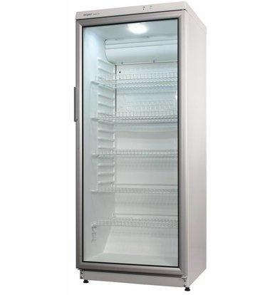 Exquisit Kühlschrank mit Glastür | Aluminium | 275 Liter | 600x600x1450(h)mm