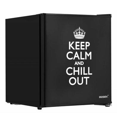 "Husky Mini Kühlschrank ""Keep Calm"" | 43 Liter | 430x460x510(h)mm"