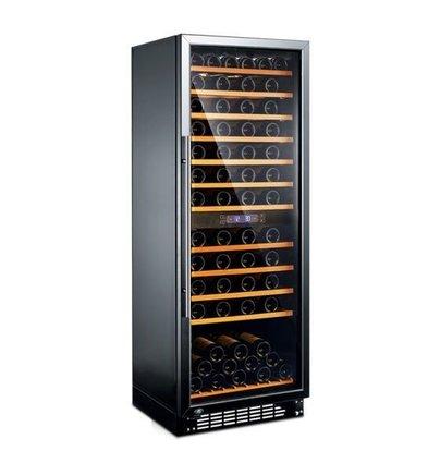 Exquisit Weinkühlschrank Schwarz/Aluminium | 270 Liter | 600x630x1630(h)mm