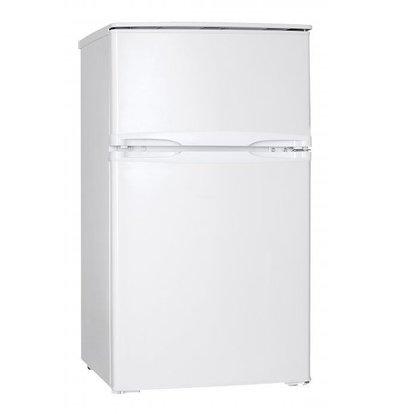 Exquisit Kühlschrank Doppeltürig Weiß | Kühlen 60L/Frieren 25L | 520x480x850(h)mm