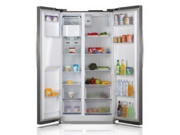 Side By Side Kühlschrank Mit Display : Side by side kühlschrank inkl eisdispensser kühlen l
