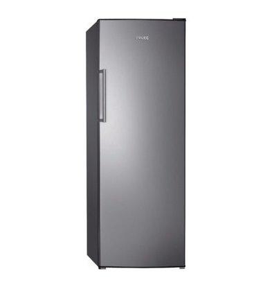 Frilec Kühlschrank Edelstahl-Look | 335 Liter | 6 Ablagen | 600x600x1700(h)mm