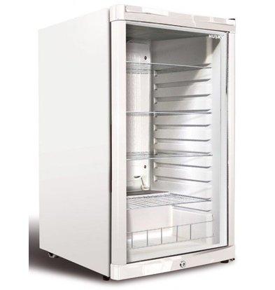 Husky Barkühlschrank  mit Glastür Weiß | 122 Liter | 540x540x845(h)mm