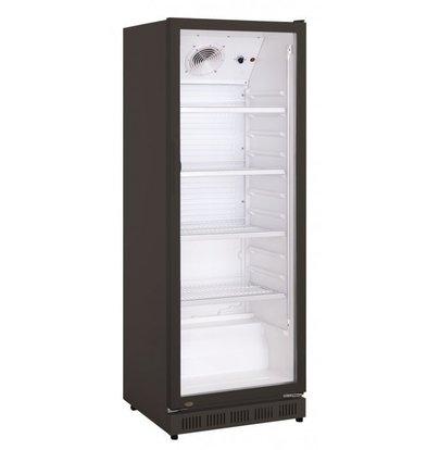 Exquisit Kühlschrank mit Glastür | 360 Liter | 620x635x1732(h)mm