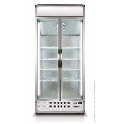 Husky Kühlschrank Doppelglastür | 728 Liter | Weiß |  LED Beleuchtung | 1000x719x1985(h)mm