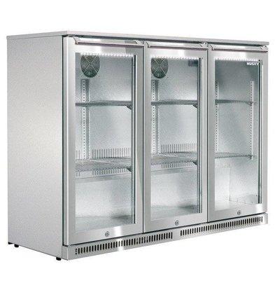 Husky Edelstahl Barkühlschrank  3-Türig | Outdoor | 285 Liter | LED Beleuchtung | 1350x495x840(h)mm
