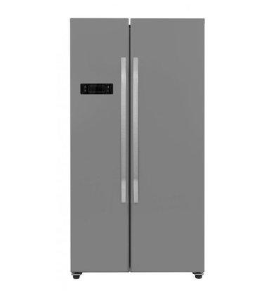 Frilec Amerikanischer  Kühl-Gefrierschrank Edelstahl | 291 + 138 Liter | Energieklasse A+ | 900x590x1770(h)mm
