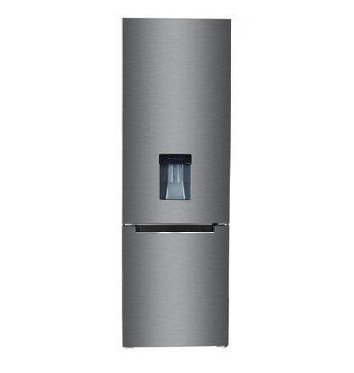 Frilec Kühl-Gefrierschrank Edelstahl | 199 + 68 Liter | Energieklasse A++ | 550x580x1770(h)mm