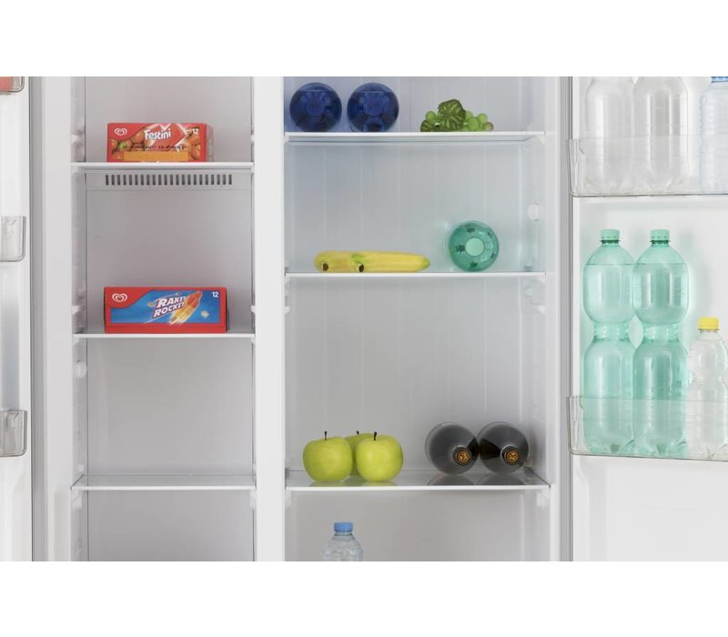 Frilec Amerikanischer Kühl Gefrierschrank Weiß | 291 + 138 Liter |  Energieklasse A+ | 900x590x1770