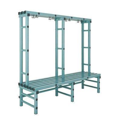 REA REA Garderobebank | Einzel | Kunststoff Aufhängehaken | 1000x570x(h)1800mm