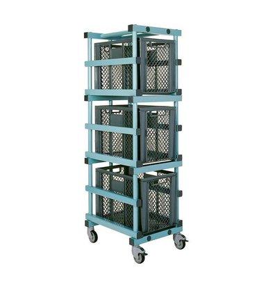 REA REA Wagen für Aufbewahrungsboxen | 3x 600x400x(h)430mm | 540x660x(h)1800mm