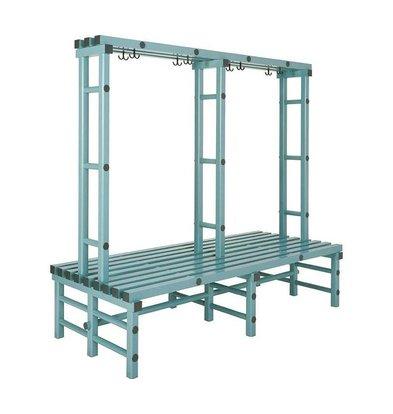 REA REA Garderobebank | Doppelt | Kunststoff Aufhängehaken | 1000x850x(h)1800mm