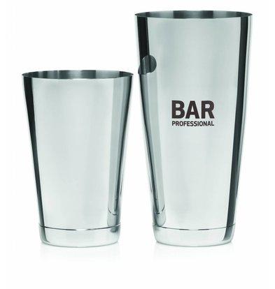 Bar Professional Boston Cocktail Shaker Set |  Edelstahl  0,8 Liter