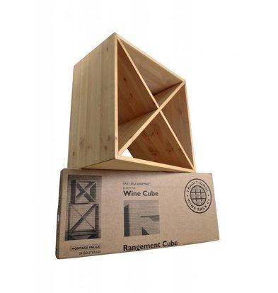 Bar Professional Weinregal quadratisch 24 Flaschen   51 x 30 x 51 (h)   Holz