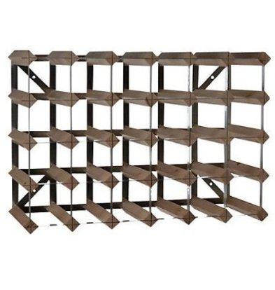 Bar Professional Weinregal 30 Flaschen | 61,2 x 22,8 x (h) 42 cm | Holz / Metall