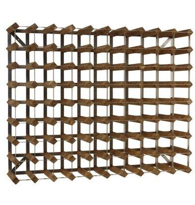 Bar Professional Weinregal 90 Flaschen | 99,6 x 22,8 x (h) 80,5 cm | Holz / Metall