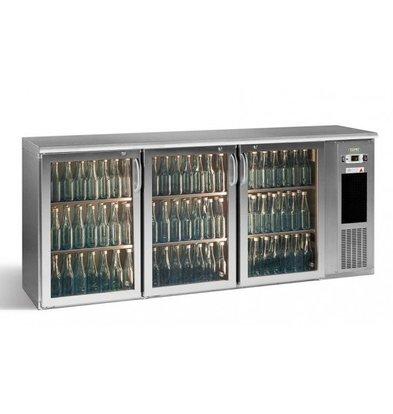 Gamko Flaschenkühlung 3-Türer Chrom | Gamko E3 / 222GMUCS | 531 Flaschen 33cl. | 537L