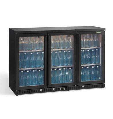 Gamko Flaschenkühlung 3-Türer Anthrazit | Gamko LG2 / 315G84 Maxiglas | 315L | Kapptüren | 1350 x 536 x 850 mm