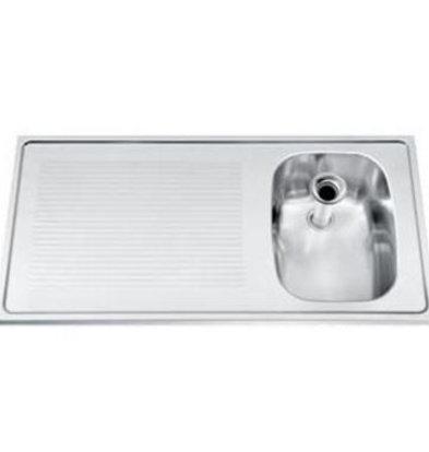 Gamko Barplatte  Edelstahl + Spüle rechts Gamko CO-SB100R | Kreuzmotiv | 500x1000mm | COMMODE