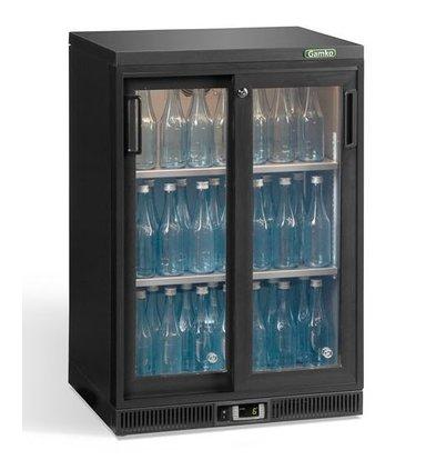 Gamko Flaschenkühlung 2 Schiebetüren | Anthrazit | Gamko MG2 / 150SD | 150L | 602 x 556 x 900/910 mm