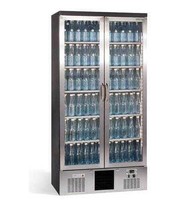 Gamko Flaschenkühlung 2 Klapptüren | Chromstahl Gamko MG2 / 500GCS | 500L | 900x530x1800 / 1825mm