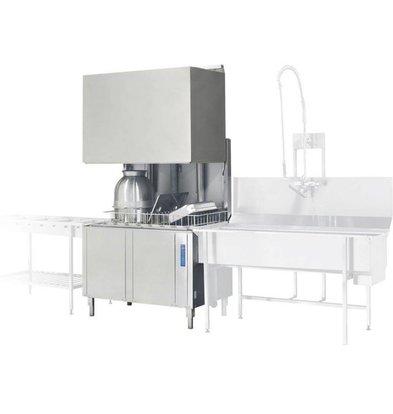 Rhima Geschirrspülmaschine 50x50cm | Rhima WD12GHE | 400V | 1200x770x1910/2420mm