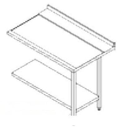 Rhima Seitentisch Edelstahl (Rechts) | Rhima 3000 0269