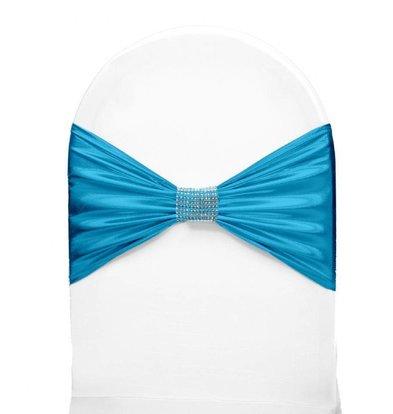 Unicover Stuhlband mit silbernem Band Eine Größe | Türkis