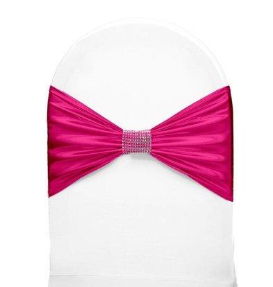 Unicover Stuhlband mit Silberband | Eine Größe | Pink