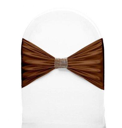Unicover Stuhlband mit Silberband | Eine Größe | Schokolade