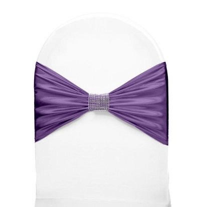 Unicover Stuhlband mit Silberband | Eine Größe | Lavendel
