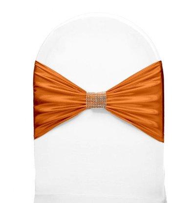 Unicover Stuhlband mit Silberband | Eine Größe | Orange