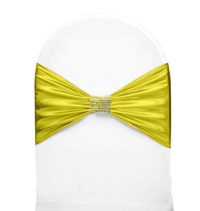 Unicover Stuhlband mit Silberband | Eine Größe | Gelb
